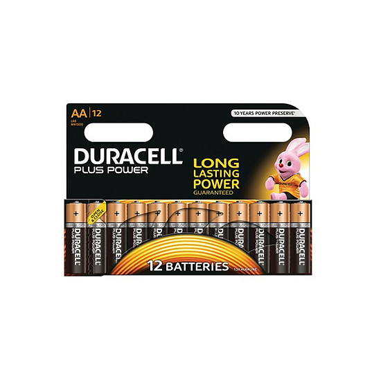 Pile et chargeur Duracell Piles Alcaline Plus Power AA LR06 (par 12)