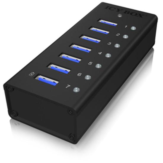 USB Icy Box IB-AC618 Concentrateur USB 3.0 - 7 ports