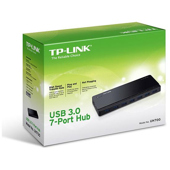USB TP-Link UH720 USB 3.0 Noir - 7 ports (dont charge) - Autre vue