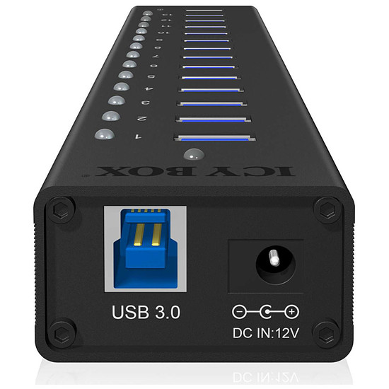 USB Icy Box IB-AC6113 Concentrateur USB 3.0 - 13 ports - Autre vue