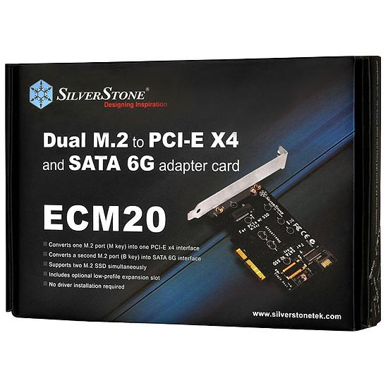 Serial ATA Silverstone Adaptateur M.2 vers PCI-Express 4x et/ou SATA - Autre vue
