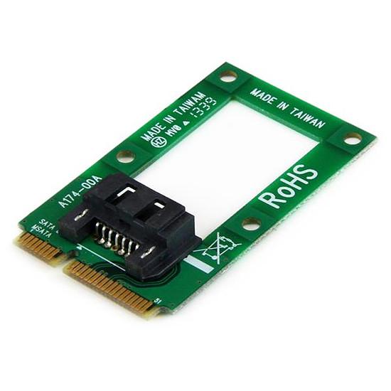 "Serial ATA StarTech.com Adaptateur mSATA vers HDD / SSD SATA 2,5"" ou 3,5"""