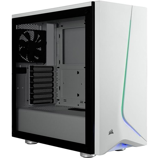 Boîtier PC Corsair Carbide SPEC-06 RGB TG (blanc)