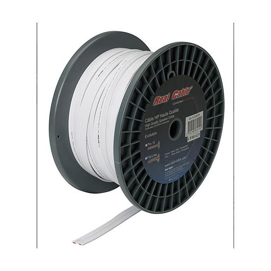 Câble d'enceintes Real Cable Câble Flat Line - 2,5mm² (prix au mètre)