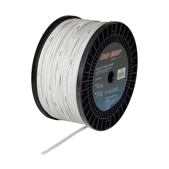 Câble d'enceintes Real Cable Pro10 White - 1,6 mm² (prix au mètre)