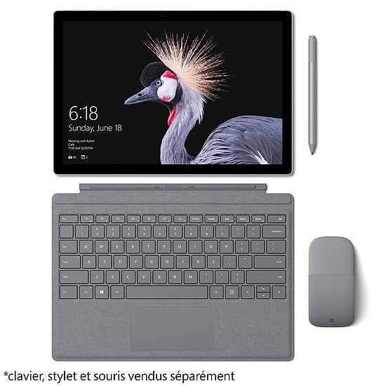 Tablette Microsoft Surface Pro 2017 - Intel Core m3 - 128 Go - 4 Go - Autre vue