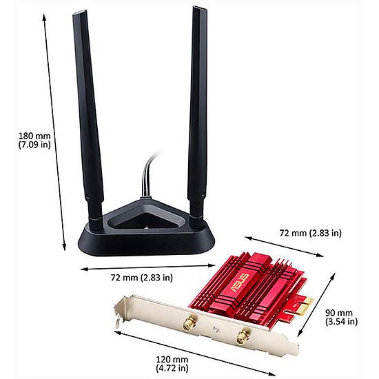 Carte réseau Asus PCE-AC56 - Carte PCI-E Wifi AC1300 - Autre vue