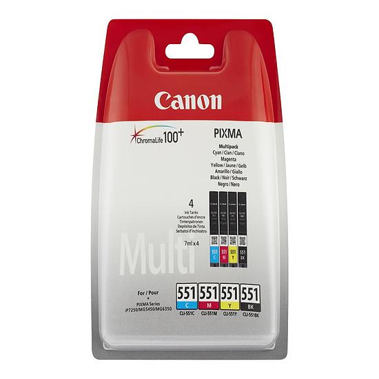 Cartouche imprimante Canon Multipack CLI-551 C/M/Y/BK