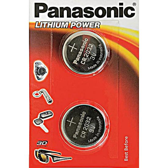 Pile et chargeur Panasonic CR 2032 (x2)