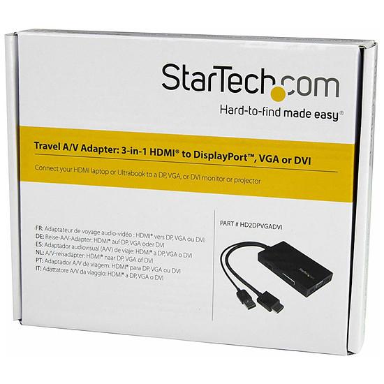 HDMI StarTech.com Adaptateur 3-en-1 HDMI vers DisplayPort VGA ou DVI - Autre vue