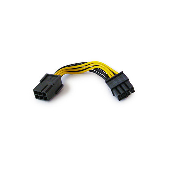 Alimentation Akasa Adaptateur PCI-Express 6/8 broches - 10 cm
