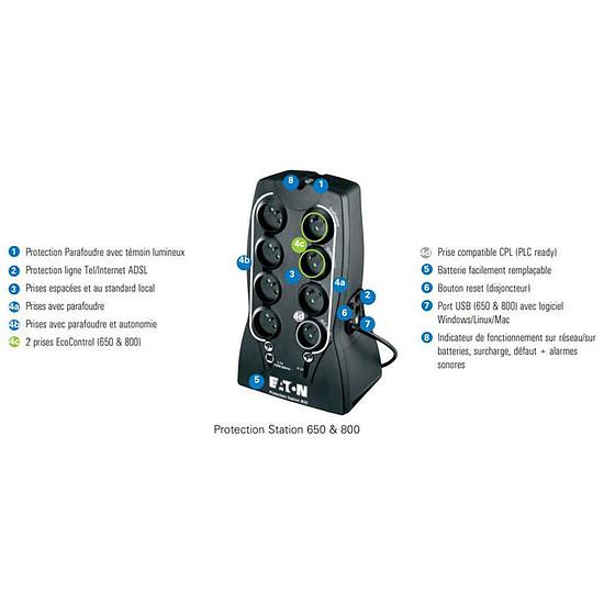 Onduleur Eaton Protection station 650 USB - Autre vue