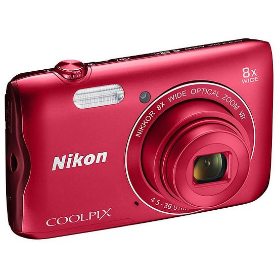 Appareil photo compact ou bridge Nikon Coolpix A300 Rouge