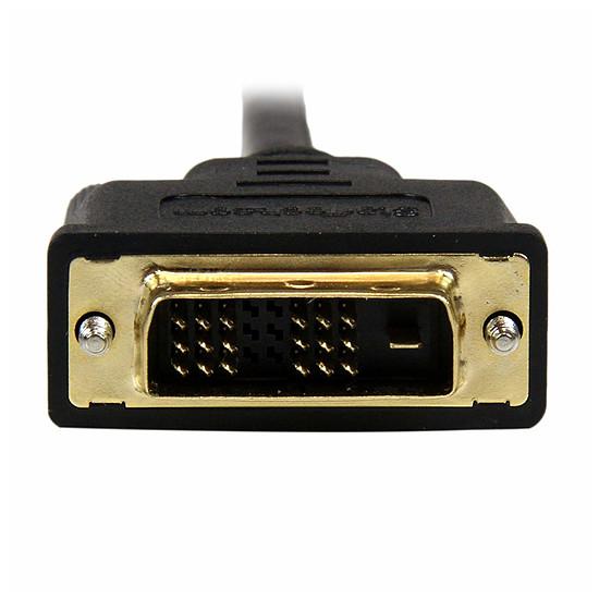 DVI StarTech.com Câble Adaptateur Mini HDMI vers DVI-D M/M - 1m - Autre vue