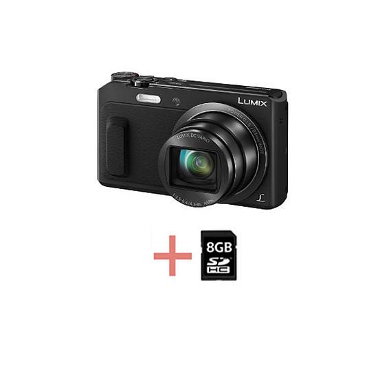 Appareil photo compact ou bridge Panasonic Lumix DMC-TZ57 Noir + carte SD 8 Go