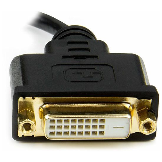 DVI StarTech.com Câble Adaptateur Mini HDMI vers DVI-D M/M - 20cm - Autre vue