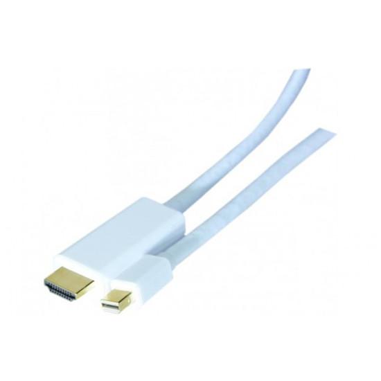 DisplayPort Câble mini DisplayPort / HDMI Blanc - 2 m