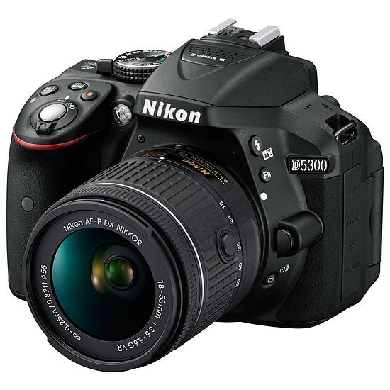 Appareil photo Reflex Nikon D5300 + AF-P DX 18-55 VR