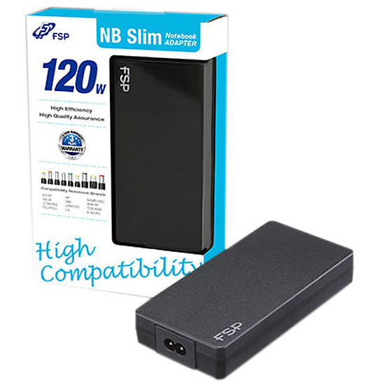 Chargeur PC portable FSP Fortron NB 120 Slim - 120W