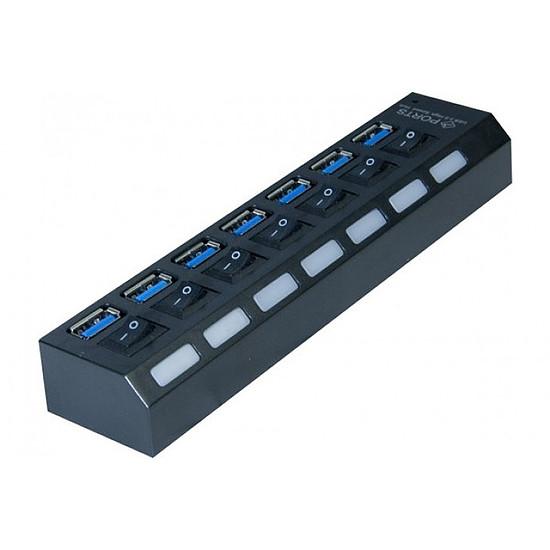 USB  Hub USB 3.0 7 ports avec interrupteurs