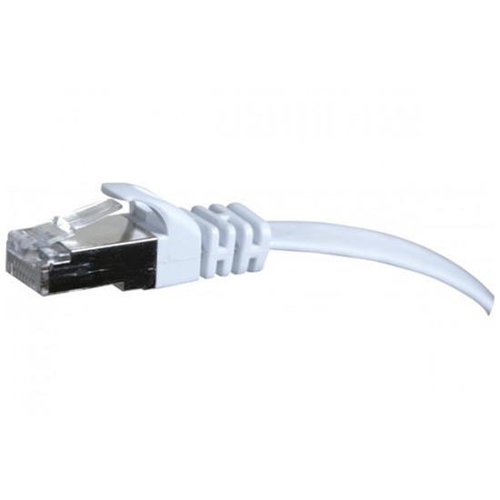 Câble RJ45 Câble Ethernet RJ45 Cat 6 STP Blanc - Snagless 10m