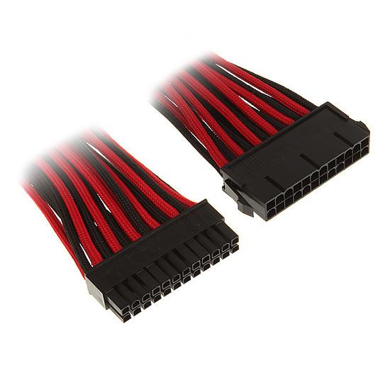 Câble d'alimentation BitFenix Alchemy Rallonge Rouge/Noir ATX 24 broches - 30 cm