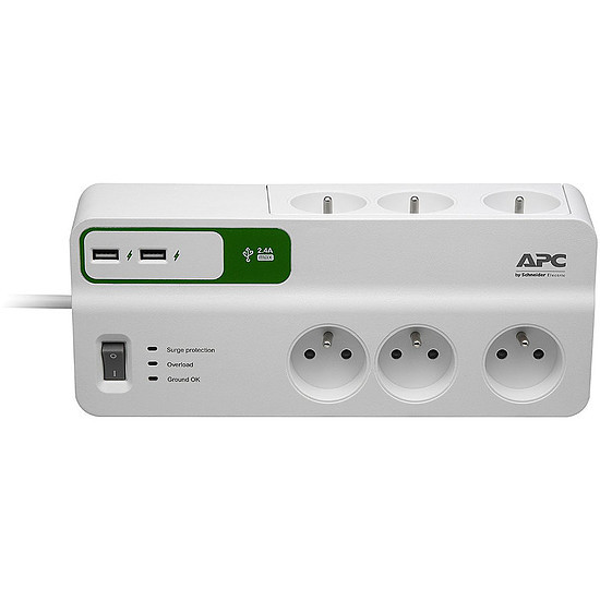 Prise parafoudre APC SurgeArrest 6 + USB