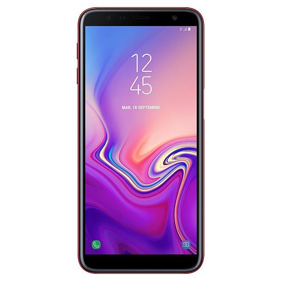 Smartphone et téléphone mobile Samsung Galaxy J6+ (rouge) - 32 Go - 3 Go - Autre vue