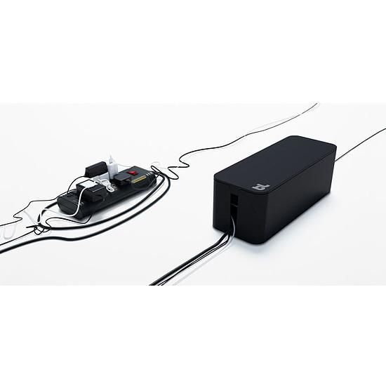 Passe câble et serre câble Bluelounge CableBox Noir Boite de rangement
