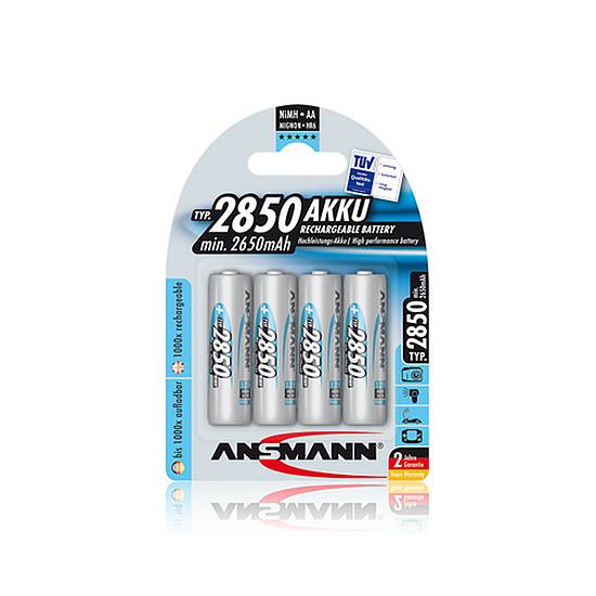 Pile et chargeur Ansmann Piles rechargeables AA 2850mAh x4
