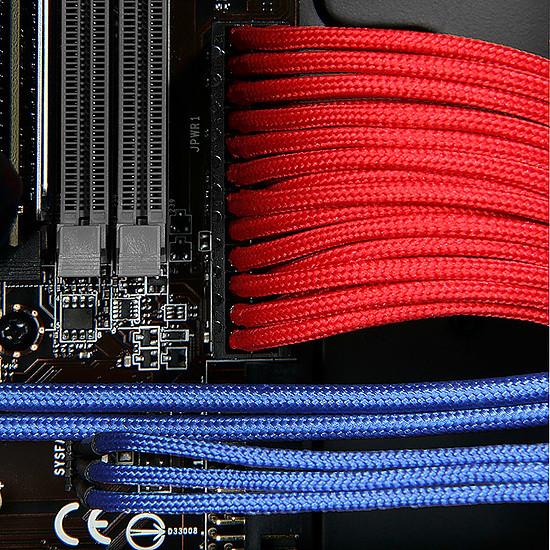 Alimentation BitFenix Alchemy Rallonge Rouge alim ATX 24 broches - 30 cm - Autre vue