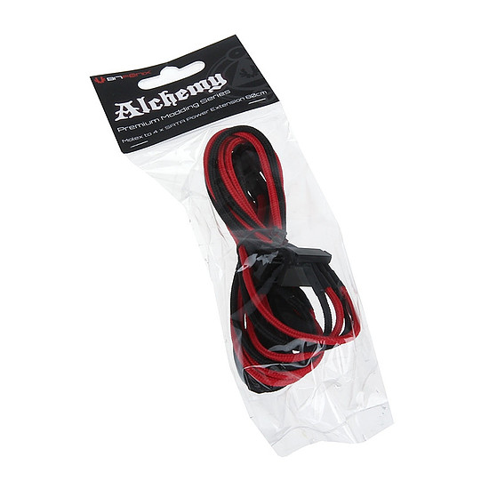 Alimentation BitFenix Alchemy Câble 4 SATA / Molex - Rouge / Noir - Autre vue
