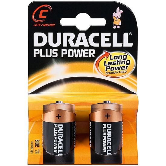 Pile et chargeur Duracell Piles Alcaline Plus Power type C LR14 (par 2)