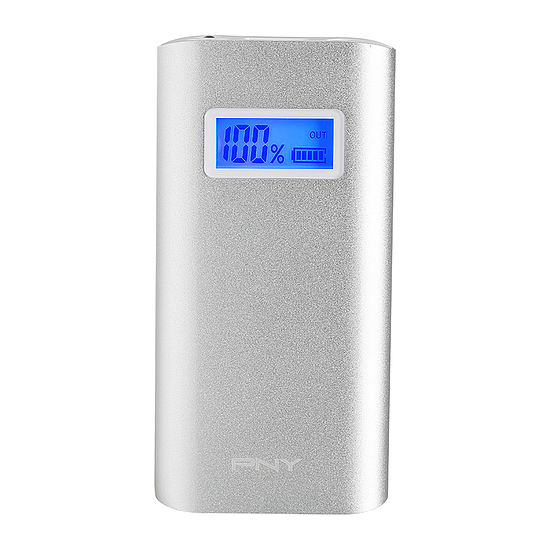 Batterie et powerbank PNY PowerPack Alu Digital 5200 mAh 2,4A - 1 USB