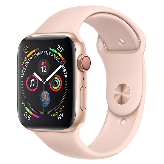 Montre connectée Apple Watch Series 4 (or - rose) - Cellular - 44 mm