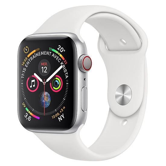Montre connectée Apple Watch Series 4 (argent - blanc) - Cellular - 44 mm