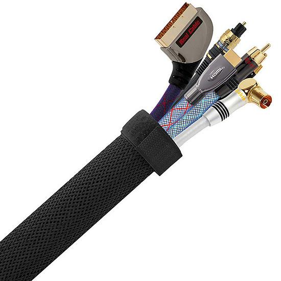 Passe câble et serre câble Real Cable Cache câbles Gris CC88GR - 3 m