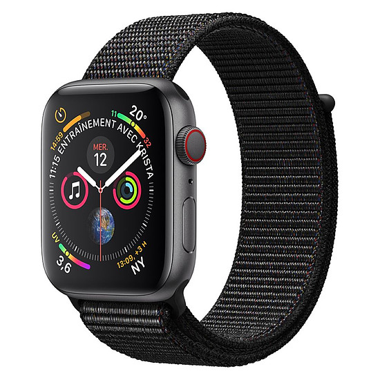 Montre connectée Apple Watch Series 4 (gris sidéral - noir) - Cellular - 40 mm
