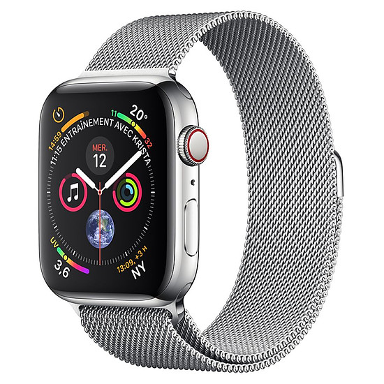 Montre connectée Apple Watch Series 4 (argent - argent) - Cellular - 40 mm
