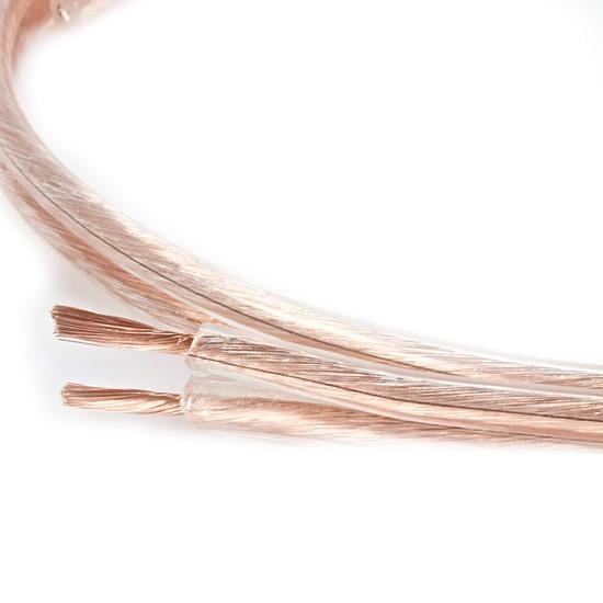 Câble d'enceintes Real Cable Pro10 Transparent - 4mm² (prix au mètre)
