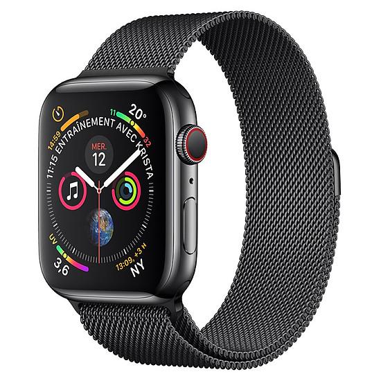 Montre connectée Apple Watch Series 4 (noir sidéral - noir sidéral) - Cellular - 40 mm