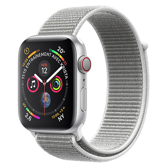 Montre connectée Apple Watch Series 4 (argent - coquillage) - Cellular - 40 mm