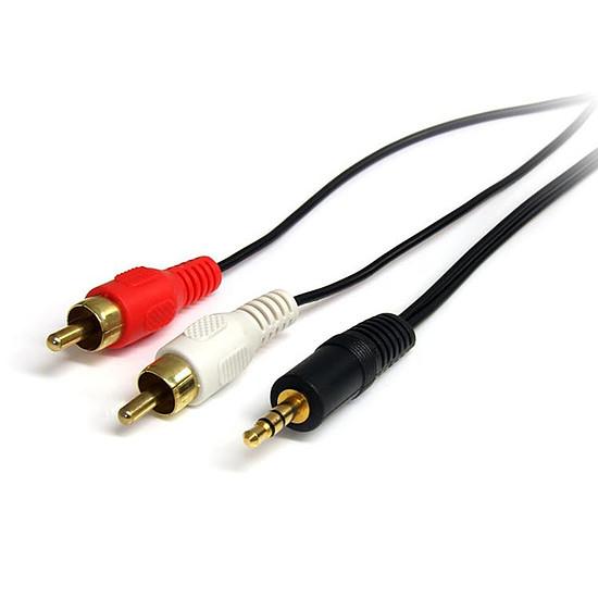 Adaptateur StarTech.com Câble audio stéréo de 90 cm Mâle 3,5mm / RCA mâle