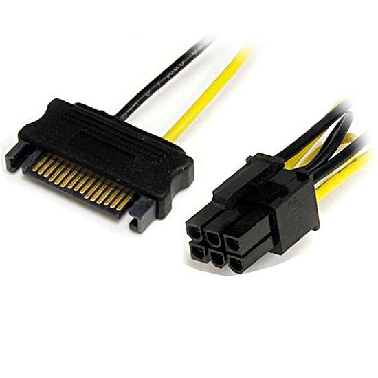 Alimentation StarTech.com Câble alimentation 2 SATA / PCI-E 6 broches 15 cm - Autre vue