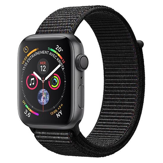 Montre connectée Apple Watch Series 4 (gris sidéral - noir) - GPS - 44 mm