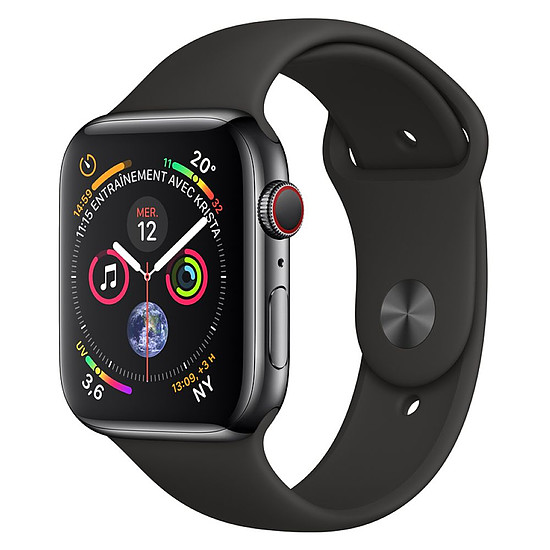 Montre connectée Apple Watch Series 4 (noir sidéral - noir) - Cellular - 44 mm