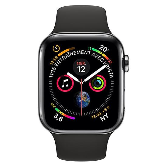 Montre connectée Apple Watch Series 4 (noir sidéral - noir) - Cellular - 44 mm - Autre vue