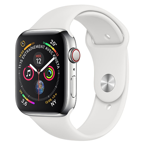 Montre connectée Apple Watch Series 4 (argent - blanc) - Cellular - 44 mm