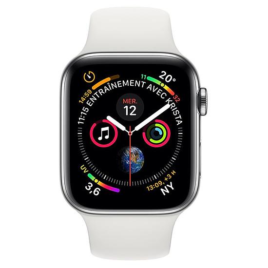 Montre connectée Apple Watch Series 4 (argent - blanc) - Cellular - 44 mm - Autre vue