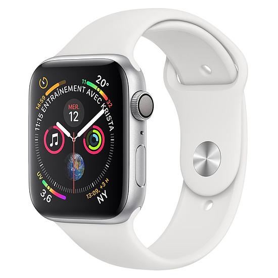 Montre connectée Apple Watch Series 4 (argent - blanc) - GPS - 44 mm